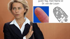 police scientifique empreintes digitales Van-Der-Leyen