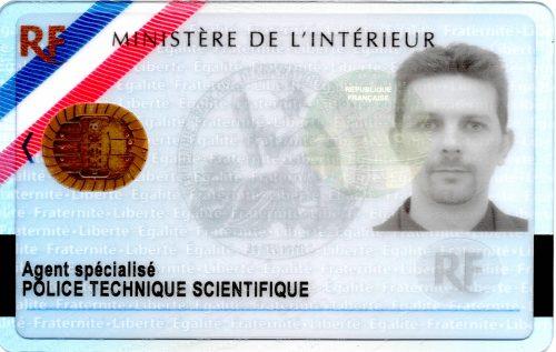 police scientifique carte professionnelle 2